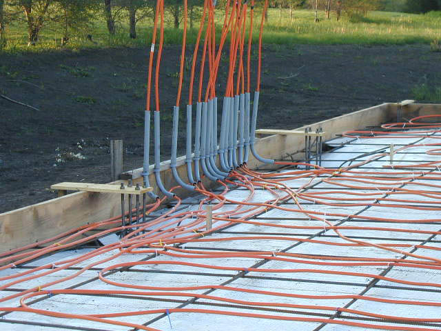 High Quality Shown Below: Piping Installed For Heated Floor!